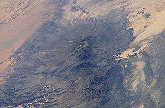 Emi-Koussi Summit observed from the International Space Station