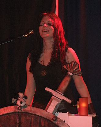 Emmi Silvennoinen - Emmi Silvennoinen playing with Ensiferum in 2009