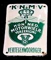 Enamel advertising sign, KNMV.JPG