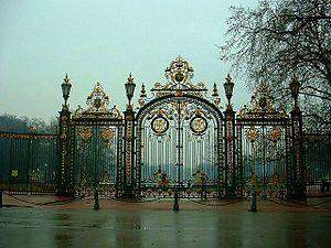 Entrée du Parc de la tête d'or à Lyon