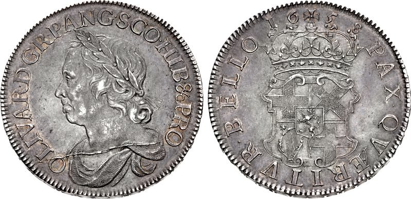 England, Commonwealth, Cromwelltaler 1658, CNG
