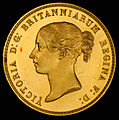 England (UK) 1839 5 Pounds (Una and the Lion) (obv).jpg