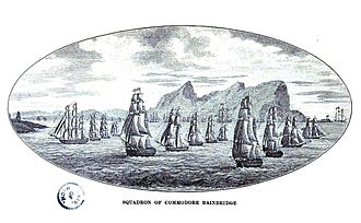 USS Firefly (1814) - Bainbridge Squadron off Algiers
