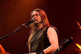 Enslaved (band) - Singer Grutle Kjellson at the Wave-Gotik-Treffen 2016 in Germany