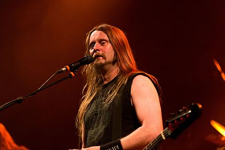 Singer Grutle Kjellson at the Wave-Gotik-Treffen 2016 in Germany Enslaved Wave-Gotik-Treffen 2016 08.jpg