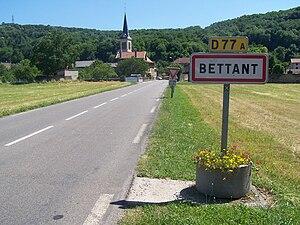 Bettant - Image: Entrée Bettant