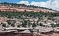 Entrada Sandstone over Kayenta Formation (Jurassic; Red Canyon, Colorado National Monument, Colorado, USA) 2 (23696612810).jpg