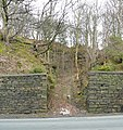Entrance to quarry, Woodhead Road, Taylor Hill, Almondbury - geograph.org.uk - 724196.jpg