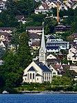 Erlenbach - Kirche - Dampfschiff Stadt Rapperswil 2013-09-13 16-00-35.JPG