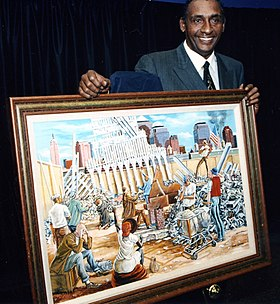 Ernie barnes with in remembrance painting.jpg