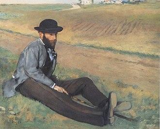 Eugène Manet - Edgar Degas, Eugène Manet, 1874.