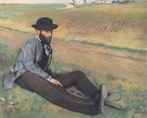 Eugene Manet (1874) by Edgar Degas