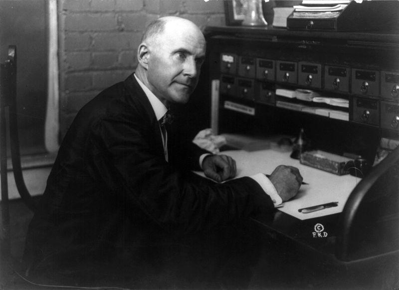 Eugene V. Debs at desk