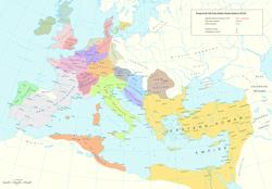 Royaume gépide en Europe à la fin de l'Empire romain d'Occident en 476 après JC