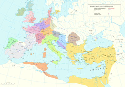 Late Roman Empire Map.Fall Of The Western Roman Empire Wikipedia