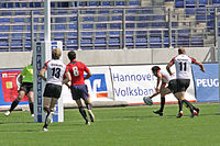 European Sevens 2008, Spain vs Germany, second try.jpg