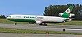 Eva Air Cargo MD-11 holding at ANC (6624449717).jpg