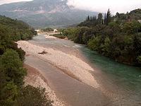 Evinos River, Greece - View from the Bania bridge.jpg