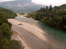 Evinos River, Greece - View from the Bania bridge.jpg