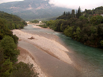 Evinos - Image: Evinos River, Greece View from the Bania bridge