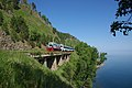 Excursion train of Circum-Baikal railway- ED9MK-0029 EMU under TEM2-6550 (31896327440).jpg