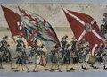 Färglagd teckning, föreställande Sigismund IIIs och drottning Konstantias intåg i Krakow den 4 december 1605, den s.k. polska (eller i Polen Stockholms-) rullen - Livrustkammaren - 81393.tif