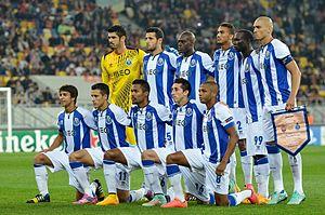 2014–15 FC Porto season - Porto players before UEFA Champions League match against Shakhtar Donetsk