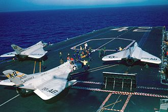 VMF(AW)-114 - VMF(AW)-114 F4Ds on ''FDR'', in 1959.