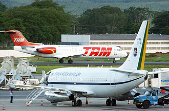 2006–07 Brazilian aviation crisis - A Brazilian Air Force 737-200, often used by the Brazilian President on domestic trips, pressed into service for TAM flights during the crisis.