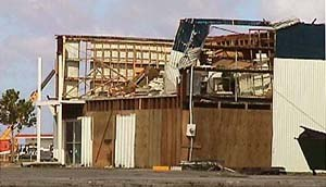 Typhoon Paka - A damaged business at Agaña