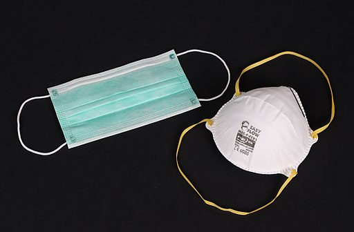 FFP and Surgical Face masks used during Coronavirus pandemic COVID-19