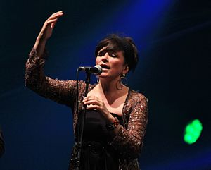 Cathy Jordan during the Festival Interceltique de Lorient in 2014.
