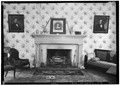 FIREPLACE IN PARLOR, EAST ROOM DOWN STAIRS - The Oaks, Ricks Lane, Leighton, Colbert County, AL HABS ALA,17-LEIT.V,1-5.tif