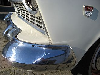 Bumper (car) - Chrome plated front bumper on a 1958 Ford Taunus