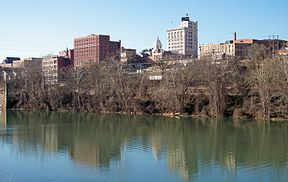 Downtown Fairmont and the Monongahela River in 2006