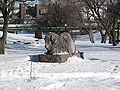 Falls Park Bison Statue.JPG