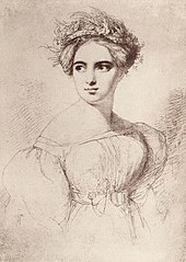 Fanny Mendelssohn, sketched in 1829 by her future husband Wilhelm Hensel (Source: Wikimedia)