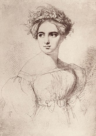 Fanny Mendelssohn - Fanny Mendelssohn, sketched by her future husband Wilhelm Hensel