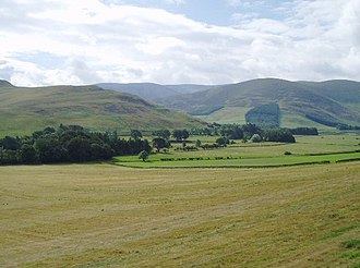 Upper Tweeddale National Scenic Area - Farmland in the valley of the Manor Water.