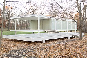 Farnsworth House - Image: Farnsworth House by Mies Van Der Rohe exterior 8