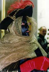 Karnevalsmaske zu Fasching