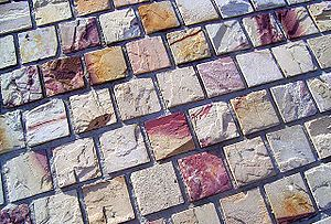 Federation Square - Main square paving.