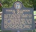Federal Occupation Of Rome Sign, Floyd County, Georgia.jpg