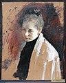 Female portrait. Study by V. Serov (1890s, Taganrog museum).jpg