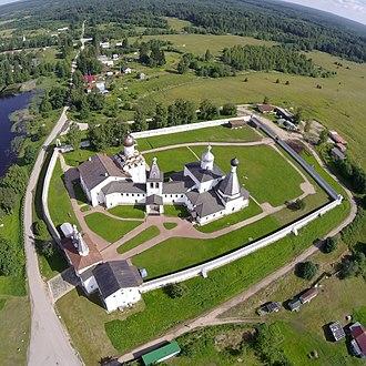 Ferapontov Monastery - Image: Ferapontovo drone cut
