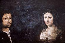 Ritratto matrimoniale del re Ferdinando II d'Aragona e della regina Isabella di Castiglia.