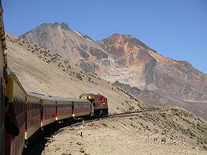 Rail transport in Peru - Lima - Morococha - Abra Anticona (Ticlio) - La Oroya - Huancayo passenger line