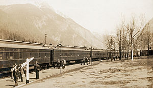 Field, British Columbia - The train station in 1935