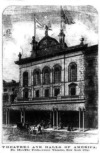 Fifth Avenue Theatre - Illustration of the Fifth Avenue Theatre, 1874