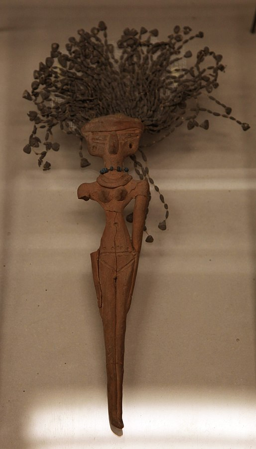 Figurines of women honouring Hathor